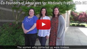 Screen shot of video about Advocates for Medically Fragile Kids NC