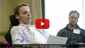Screen shot of video about Matt Potter