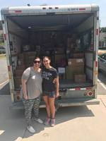 Members for Advocates for Medically Fragile Kids NC with supplies for Hurricane Harvey victims