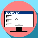Online-Survey-Icon with background
