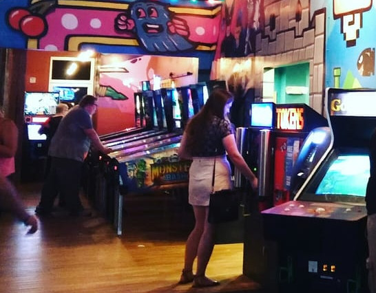 Video games at Boxcar Bar and Arcade